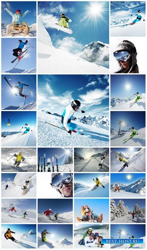 Winter sports, skiing - stock photos