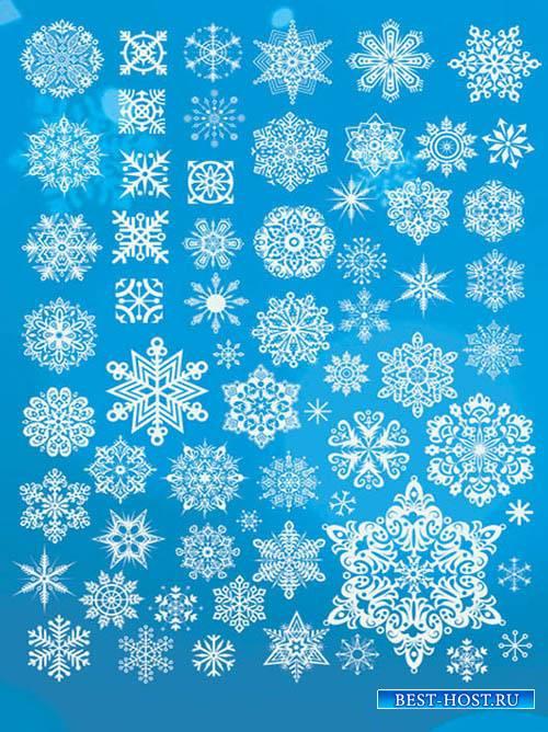 Снежинки - Новый год  Snowflakes PNG
