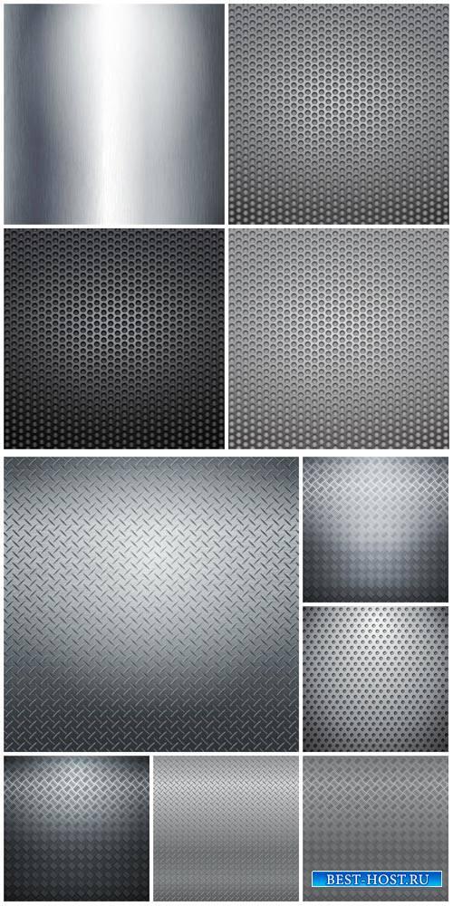 Metal backgrounds vector # 3