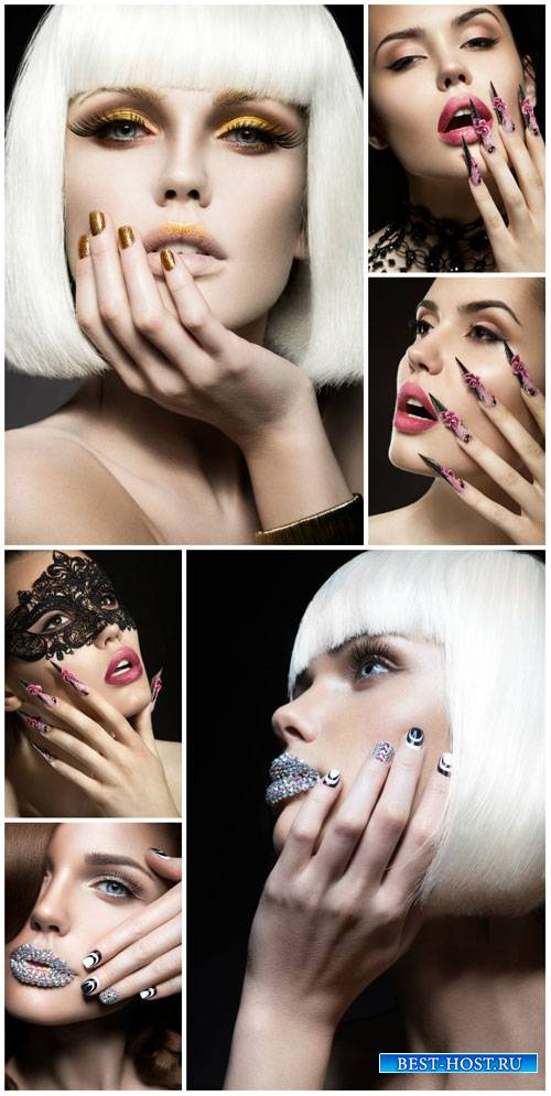 Glamorous women, trendy manicure - stock photos