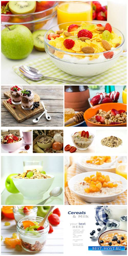 Muesli, healthy food - stock photos