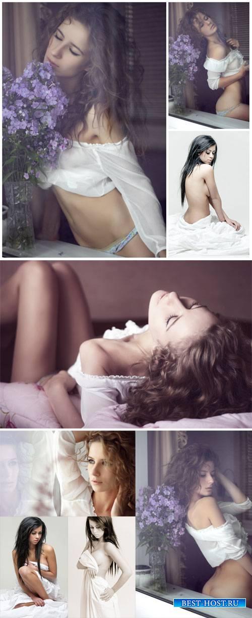 Romantic charming girls - stock photos