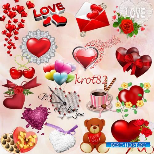 Клипарт сердце на прозрачном фоне – Сердце красное, розовое, бордовое, цветочное и шоколадное