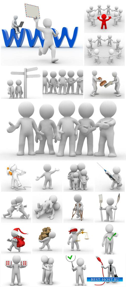 3D people in different situations #2 - stock photos