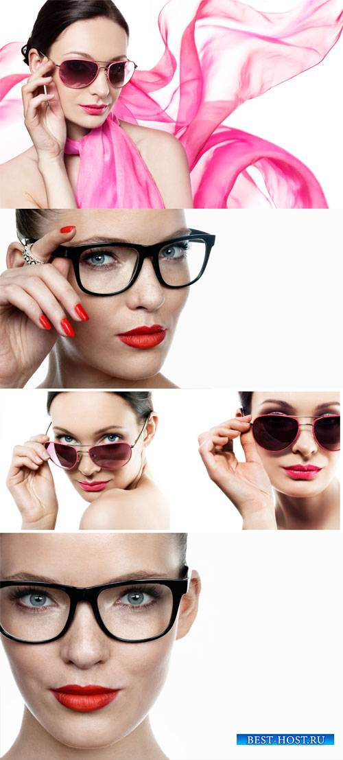 Woman in glasses - stock photos