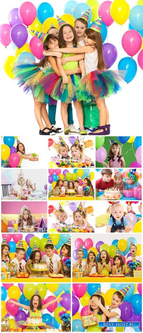 Birthday party, children's party, children - stock photos