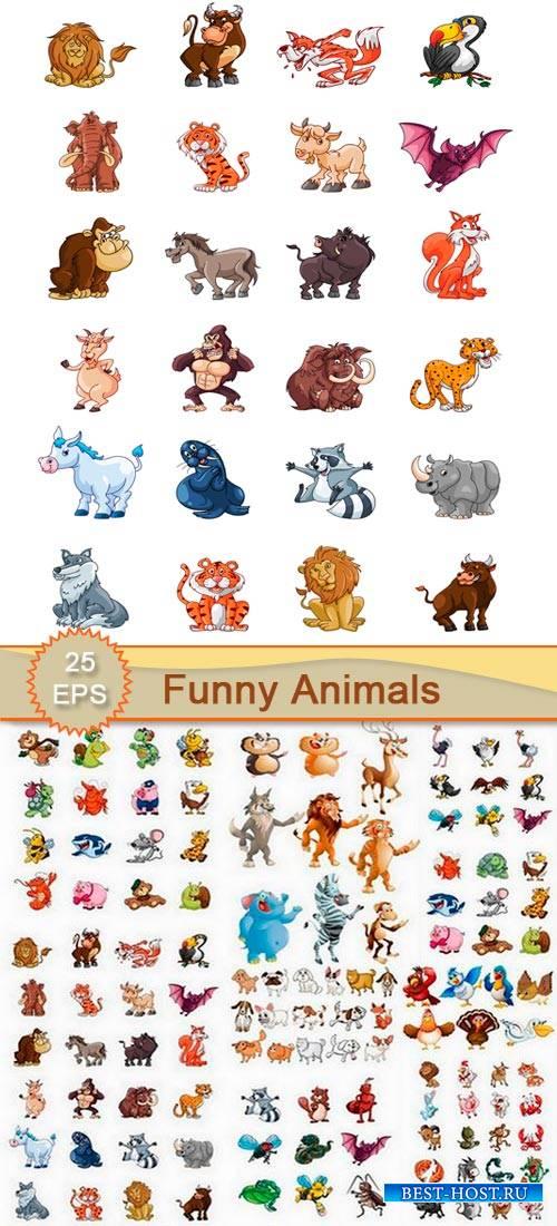 Клипарт - Смешные карикатуры животных