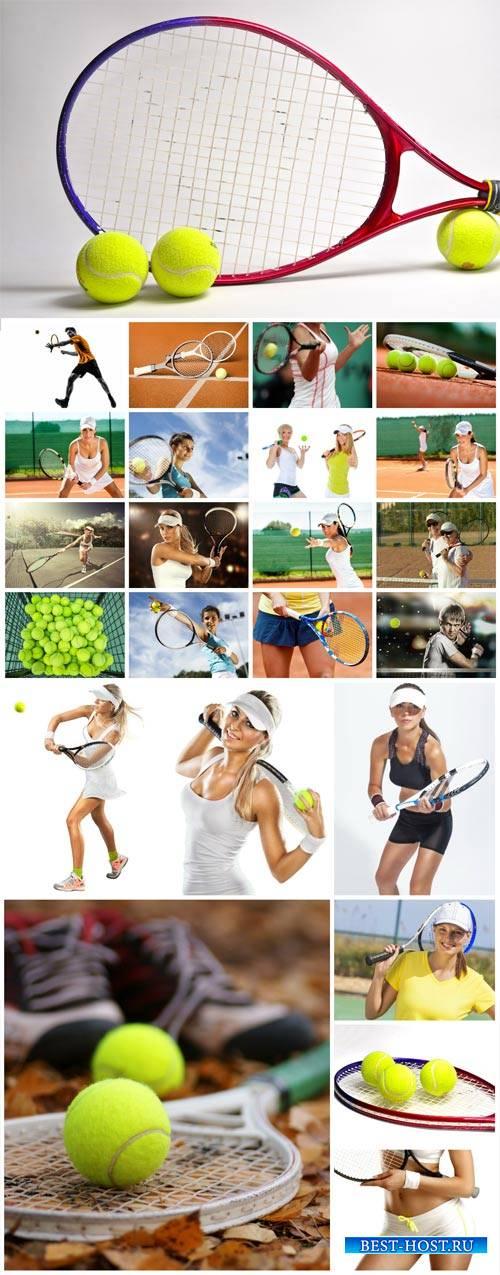 Tennis, girls tennis - stock photos