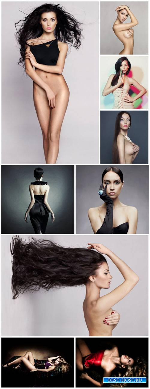 Fashionable girl, beauty and style - stock photos