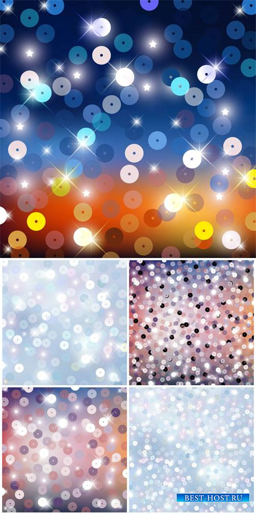 Vector backgrounds with sparkles