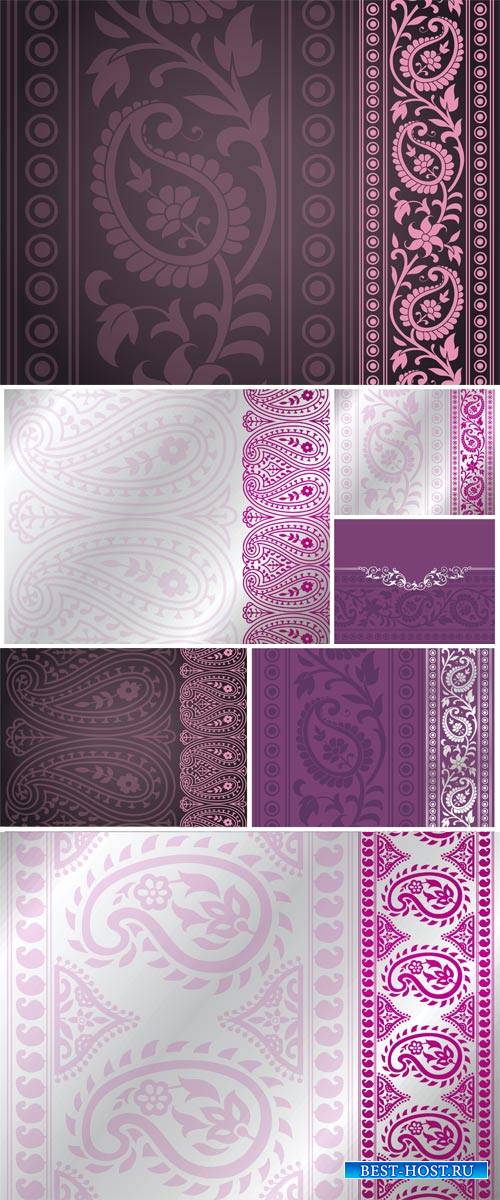Indian patterns, vector backgrounds