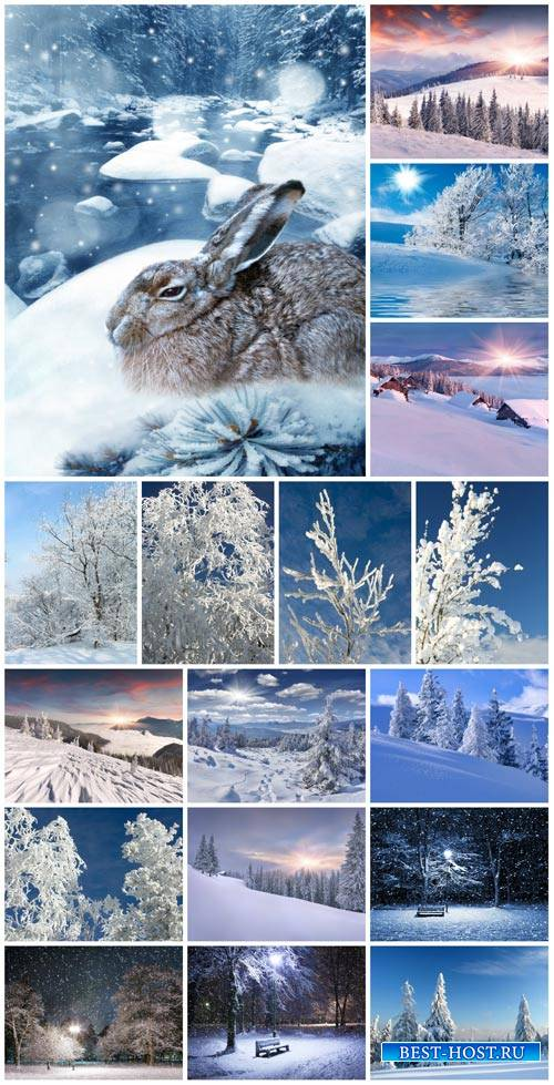 Winter, nature, landscapes - stock photos