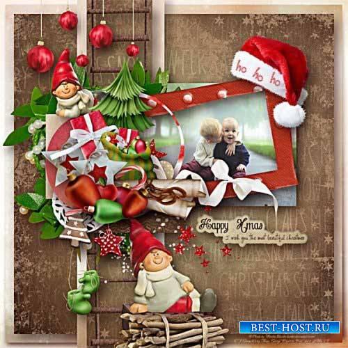 Новогодний скрап-комплект - Дух рождества