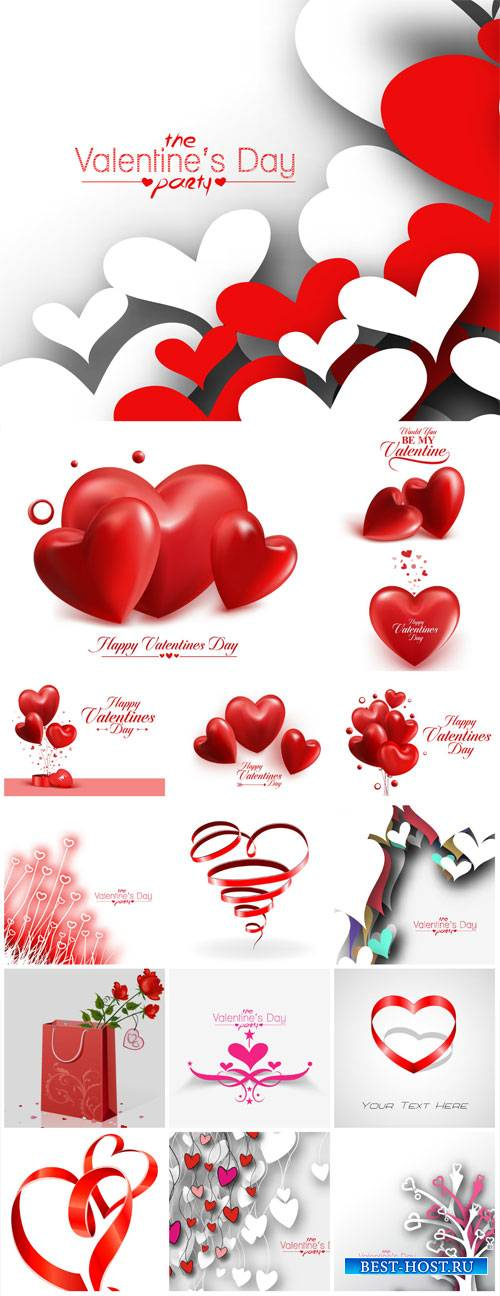 Valentine's Day, backgrounds, banners, hearts, vector # 10