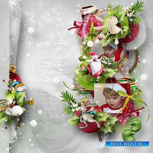 Новогодний скрап-комплект - Колокольчики