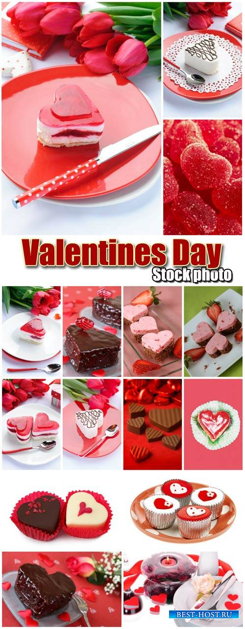 Valentine's Day, romantic background with desserts # 20 - stock photos