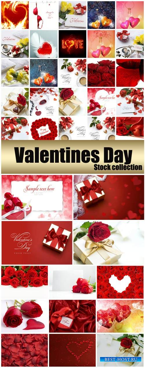 Valentine's Day, romantic backgrounds, roses, hearts # 26 - stock photos