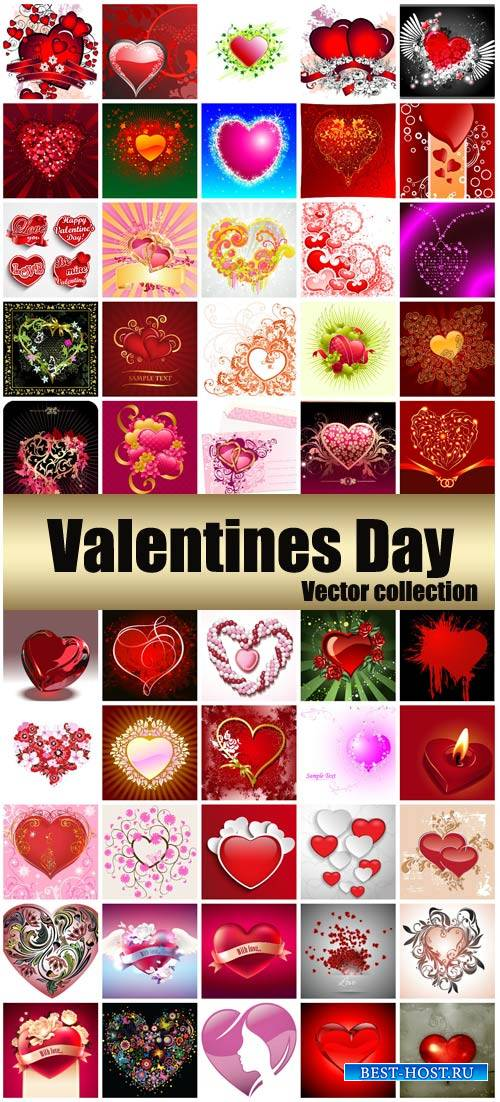 Valentine's Day, romantic backgrounds, creative hearts vector # 31