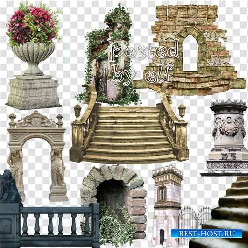 PNG клипарт - Колонны, балконы, ступеньки, арки