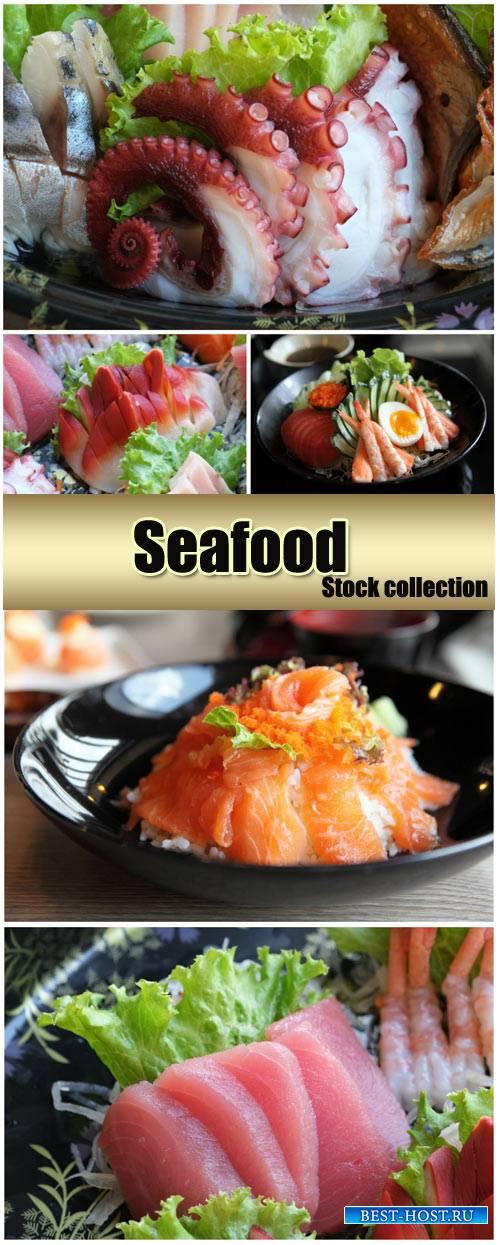 Seafood, delicious - stock photos
