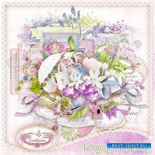 Цветочный скрап-комплект - Тоска по весне