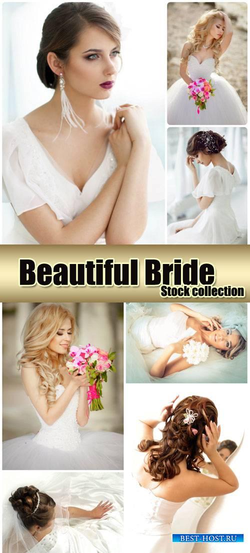 Beautiful bride, wedding, marriage - stock photos