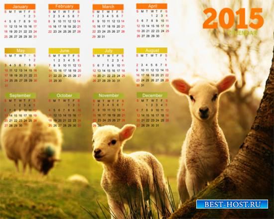 Календарь на 2015 год – Раз ягнёнок, два ягнёнок