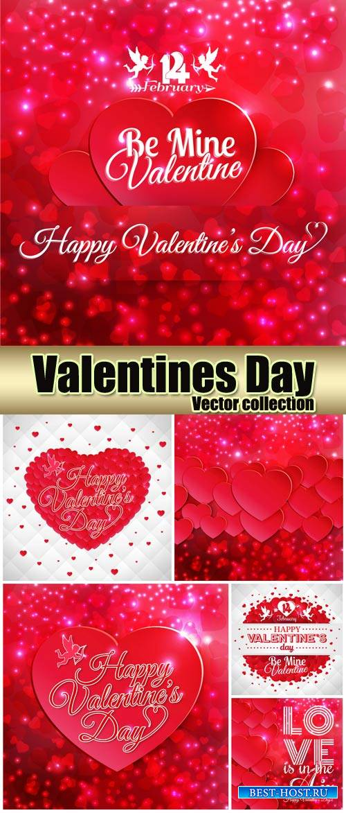 Shining vector backgrounds valentine's day, love, romance