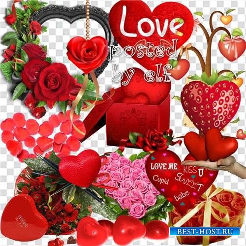 Клипарт в png - Сердца и сердечки