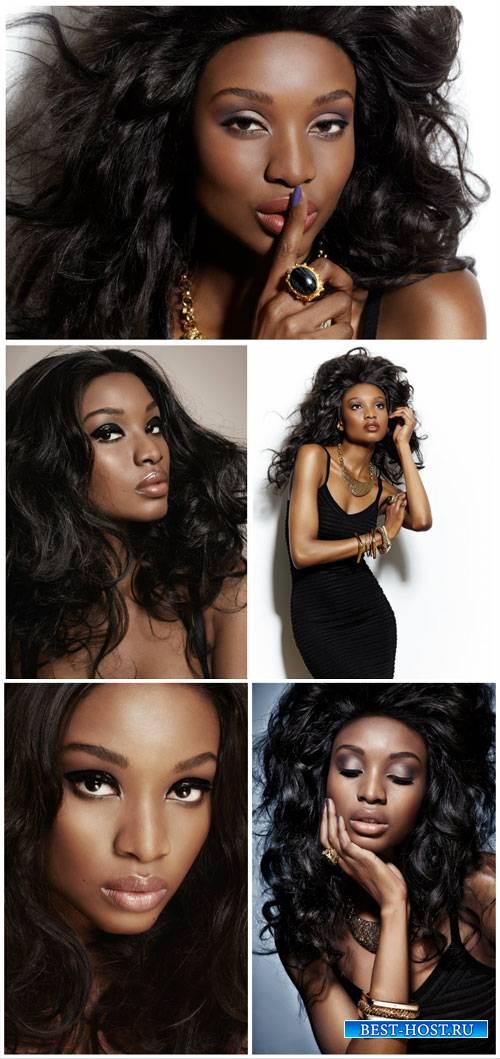 Beautiful black girl - stock photos