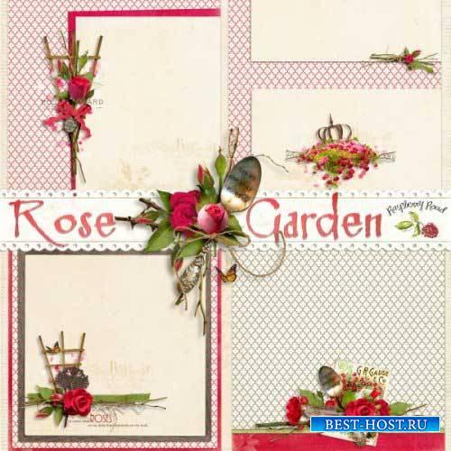 Цветочный скрап-комплект - Розовый сад