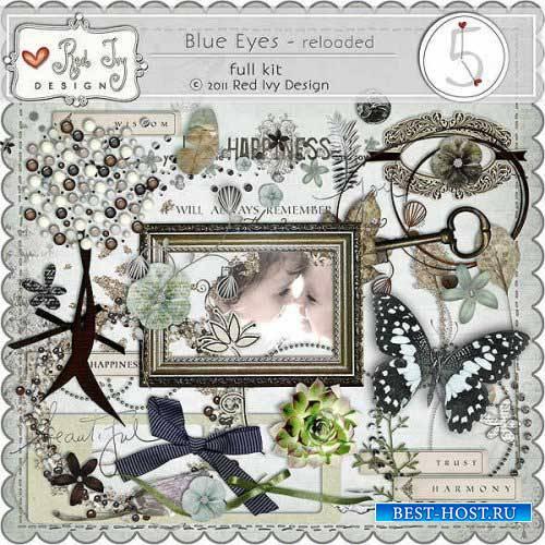 Винтажный скрап-комплект - Голубые глаза