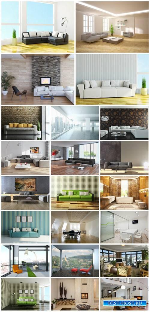 Interior, furniture, sofas - stock photos
