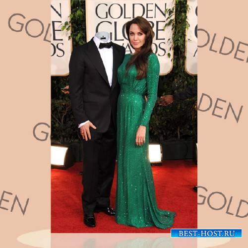 Photoshop шаблон - Вместе с Анджелиной Джоли