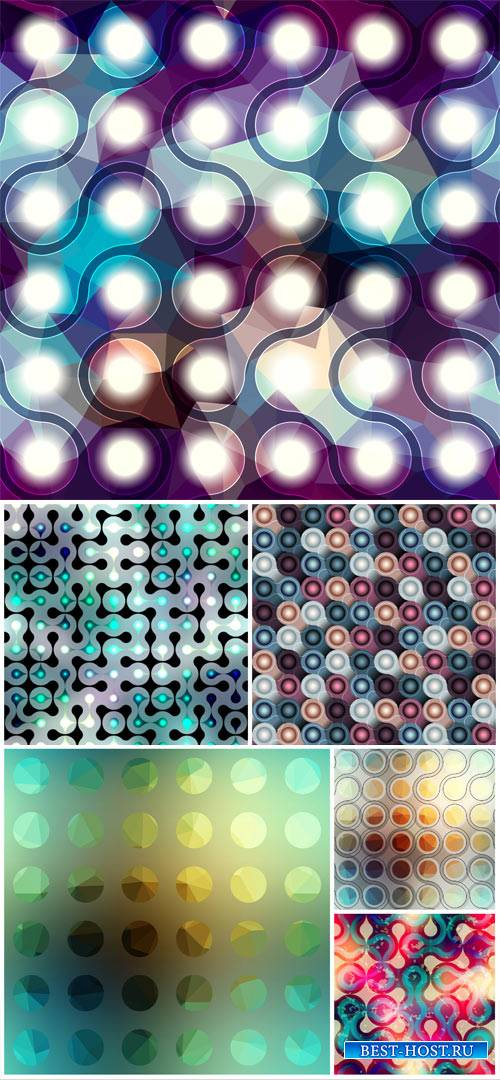 Vector backgrounds, color abstraction, shiny glare