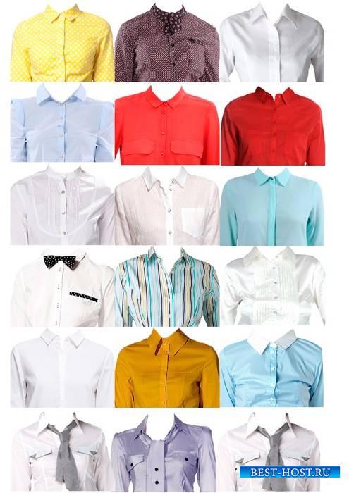 Шаблоны для фотошопа  - Женские рубашки для фото на документы