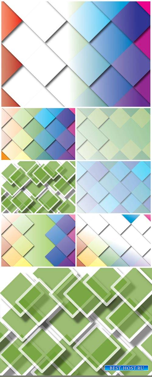 Vector backgrounds, abstract, background with cubes
