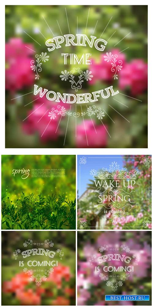 Spring, vector backgrounds