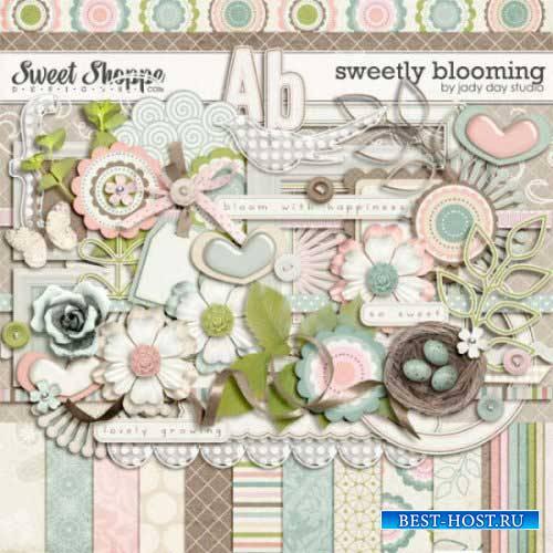 Цветочный скрап-комплект - Мило цветущий