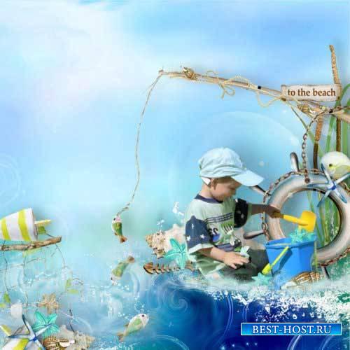 Морской скрап-набор - Морское приключение