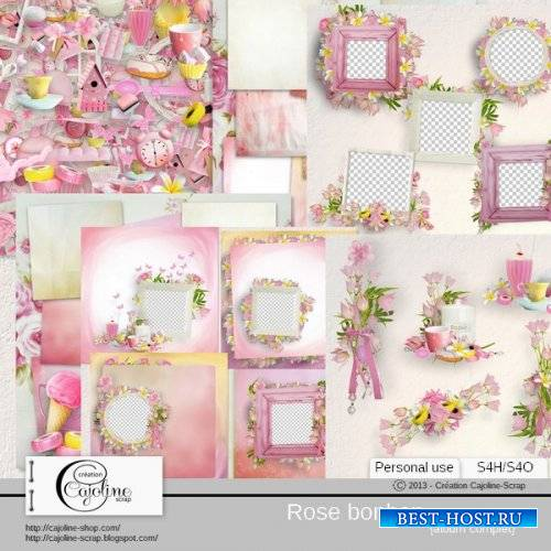 Цветочный скрап-комплект - Rose Bonbon
