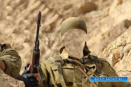 Шаблон для фотошопа  - Солдат спецназа
