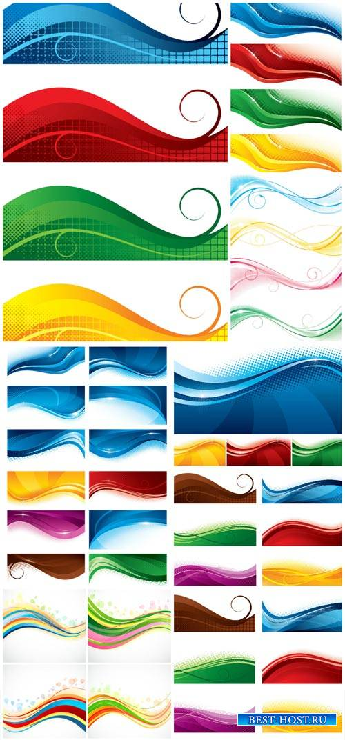 Colored lines, abstract wave vector
