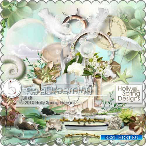 Морской скрап-комплект - Мечтающий о море