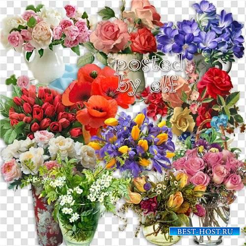 Не расточая лишних слов, я вам дарю букет цветов - клипарт без фона