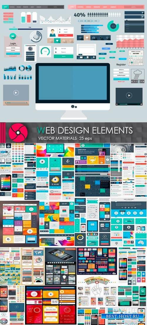 Векторные заготовки для web дизайна
