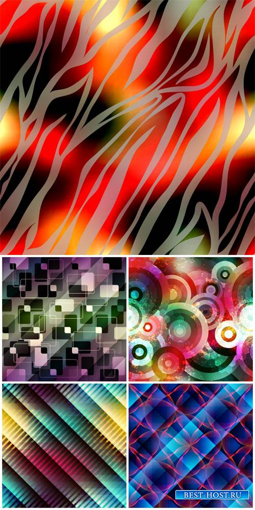 Creative backgrounds with colorful abstraction vector