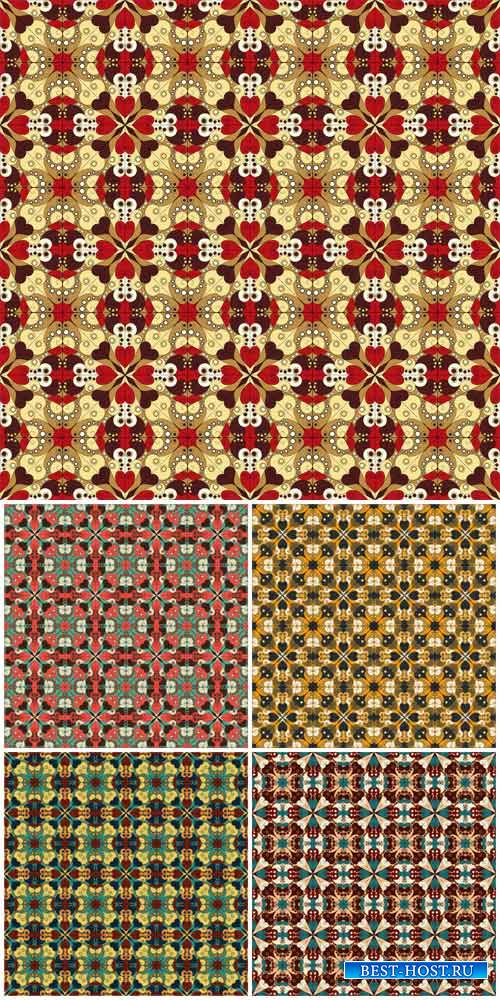 Vintage patterns, vector colorful backgrounds