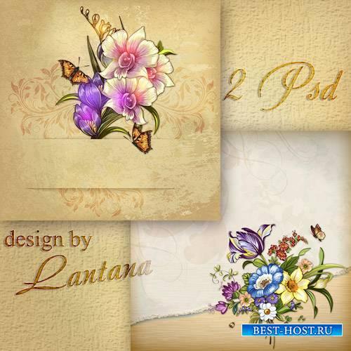PSD исходники - Старинные открытки