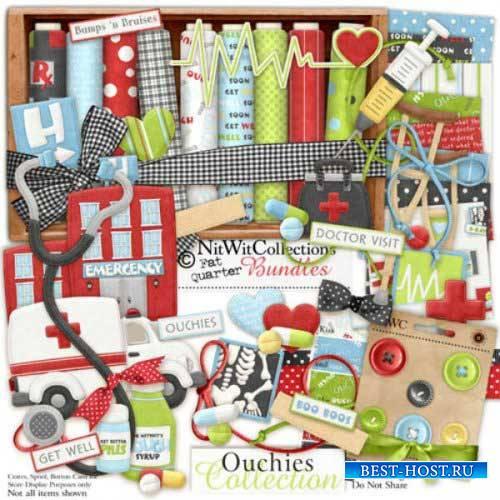 Детский скрап-комплект - Ouchies Collection